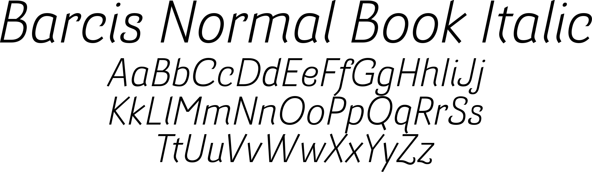 Barcis Normal Book Italic