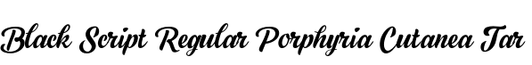 Black Script Regular