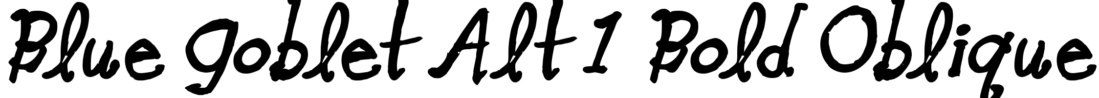Blue Goblet Alt 1 Bold Oblique