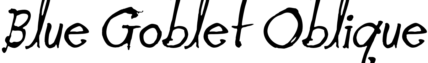Blue Goblet Oblique