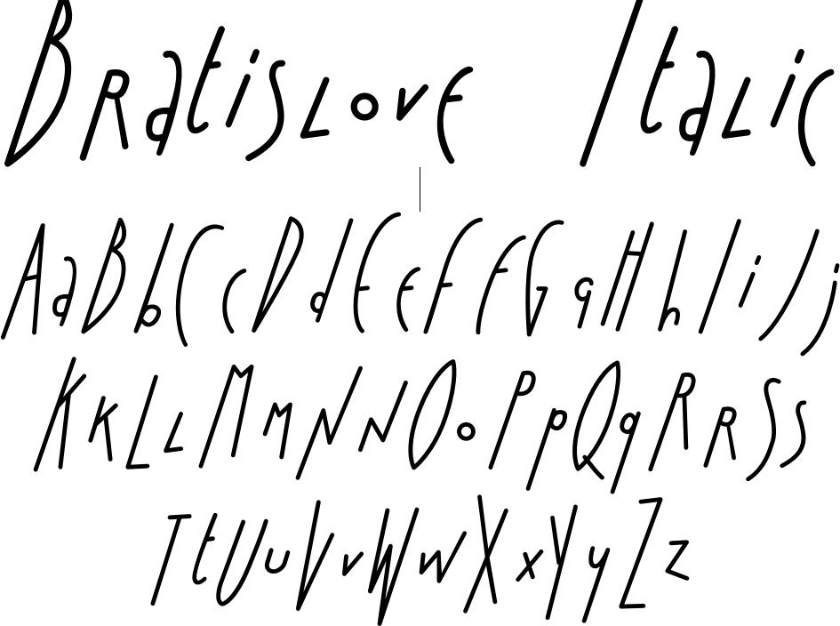 Bratislove Italic