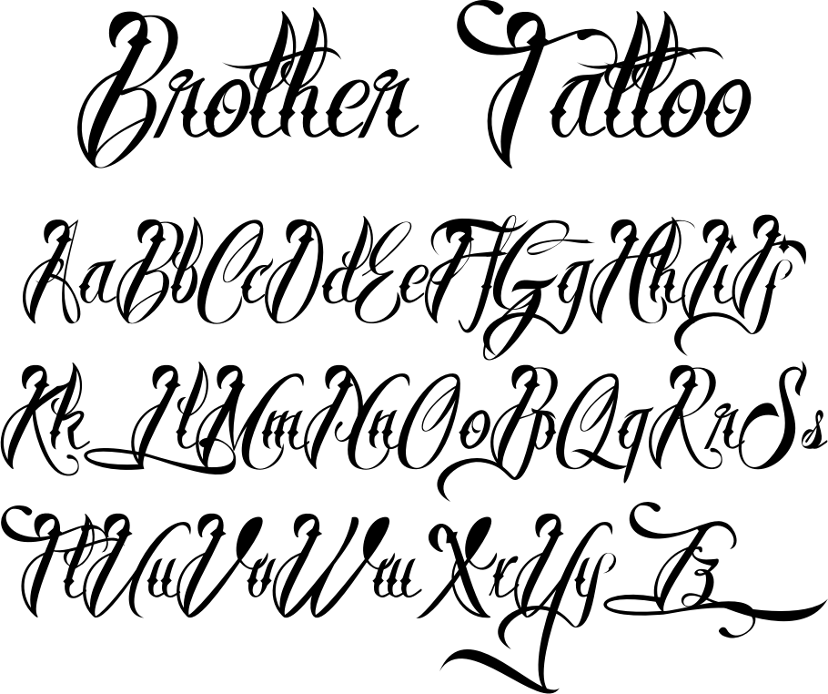 Brother Tattoo Font By M Ns Greb Ck Font Bros