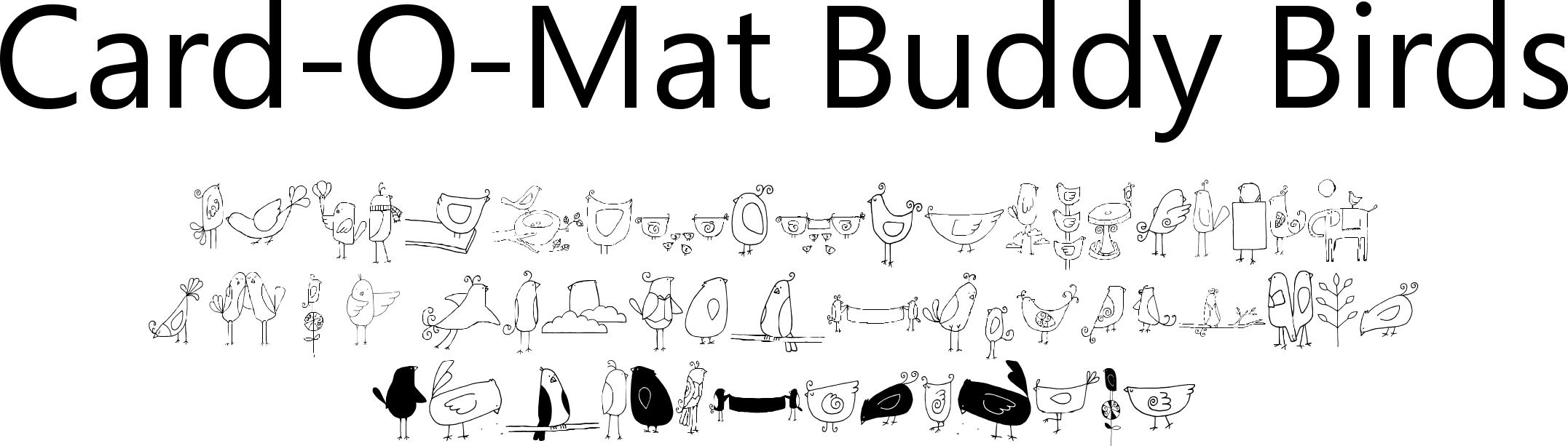 Card-O-Mat Buddy Birds