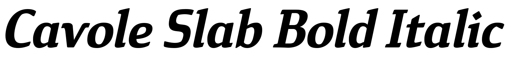 Cavole Slab Bold Italic