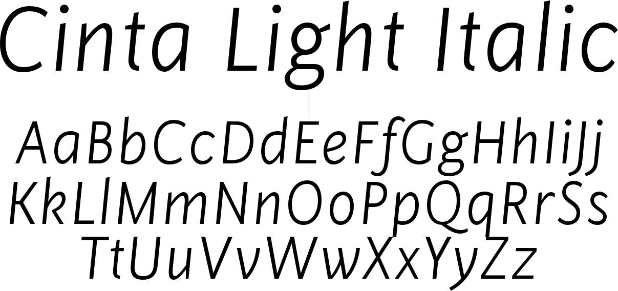 Cinta Light Italic