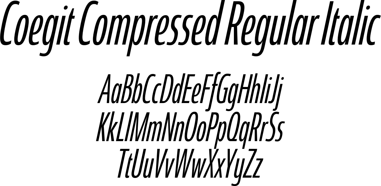 Coegit Compressed Regular Italic
