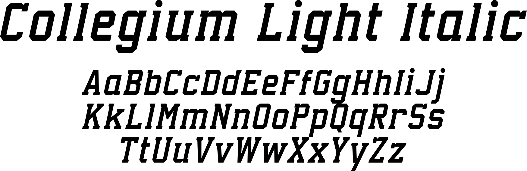 Collegium Light Italic