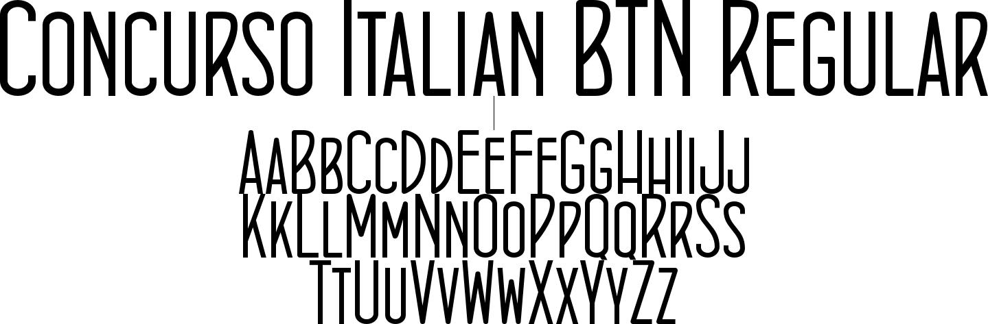 Concurso Italian BTN Regular