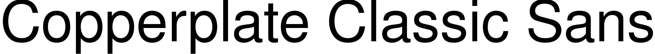 Copperplate Classic Sans