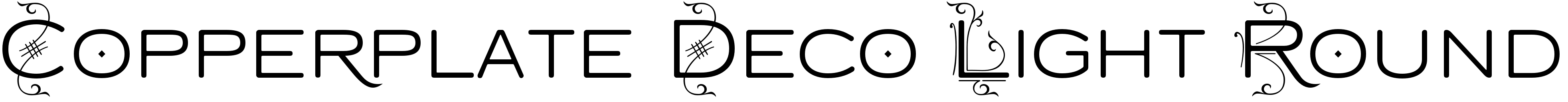 Copperplate Deco Light Round