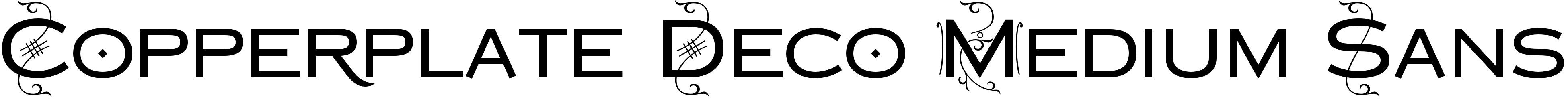 Copperplate Deco Medium Sans