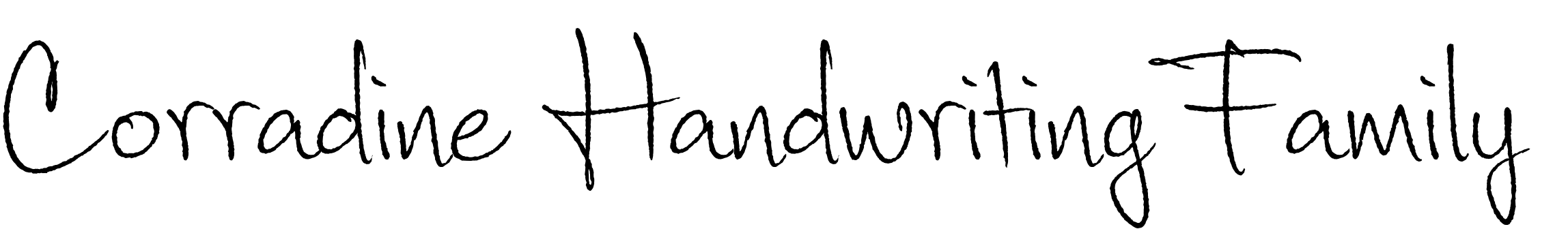 Corradine Handwriting