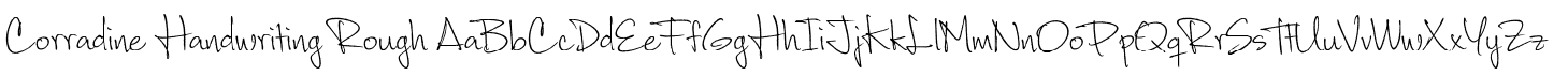 Corradine Handwriting Rough