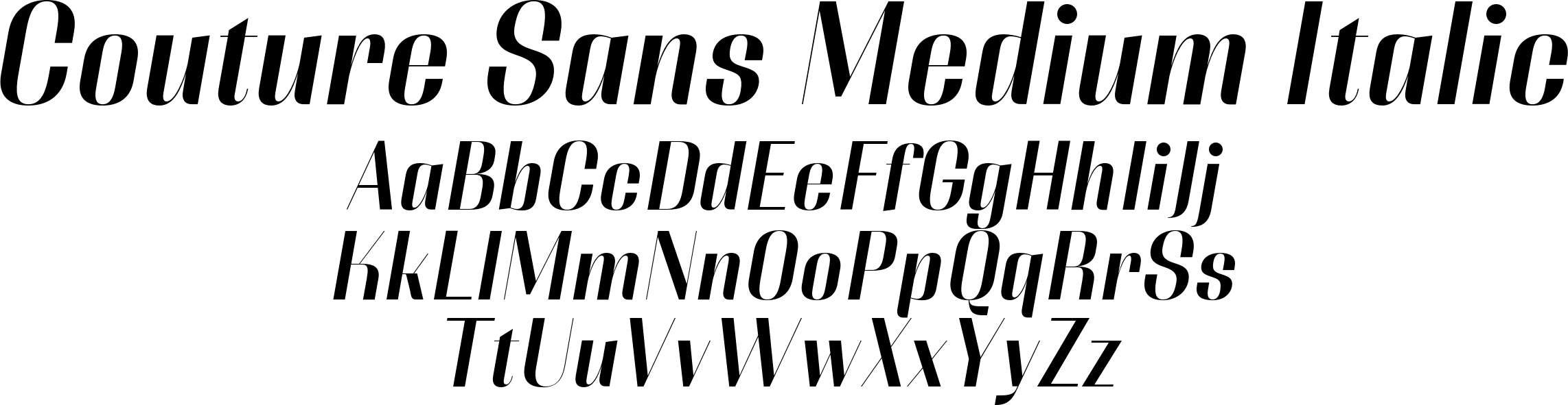Couture Sans Medium Italic