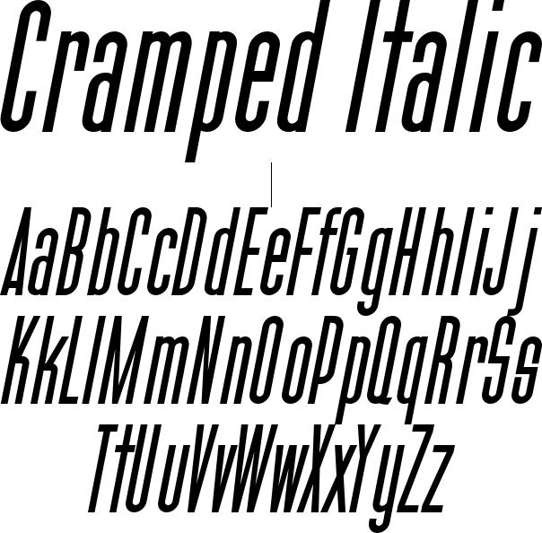 Cramped Italic