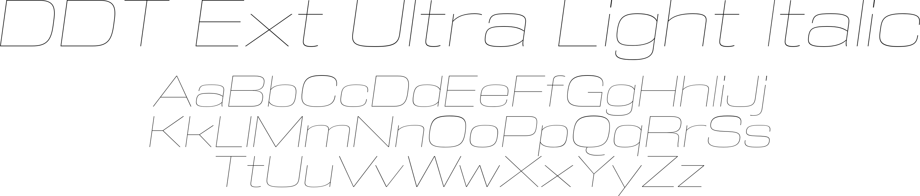 DDT Ext Ultra Light Italic