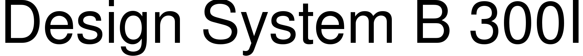Design System B 300I