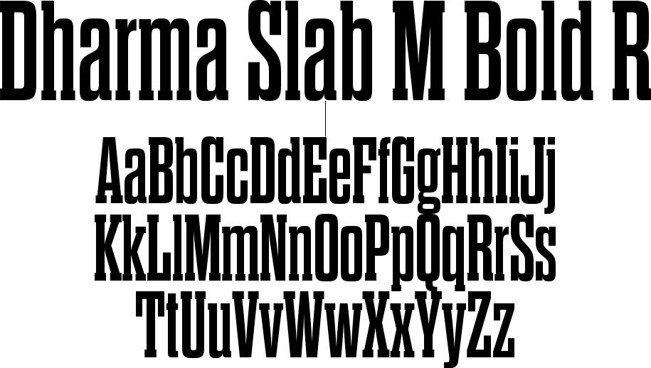Dharma Slab M Bold R