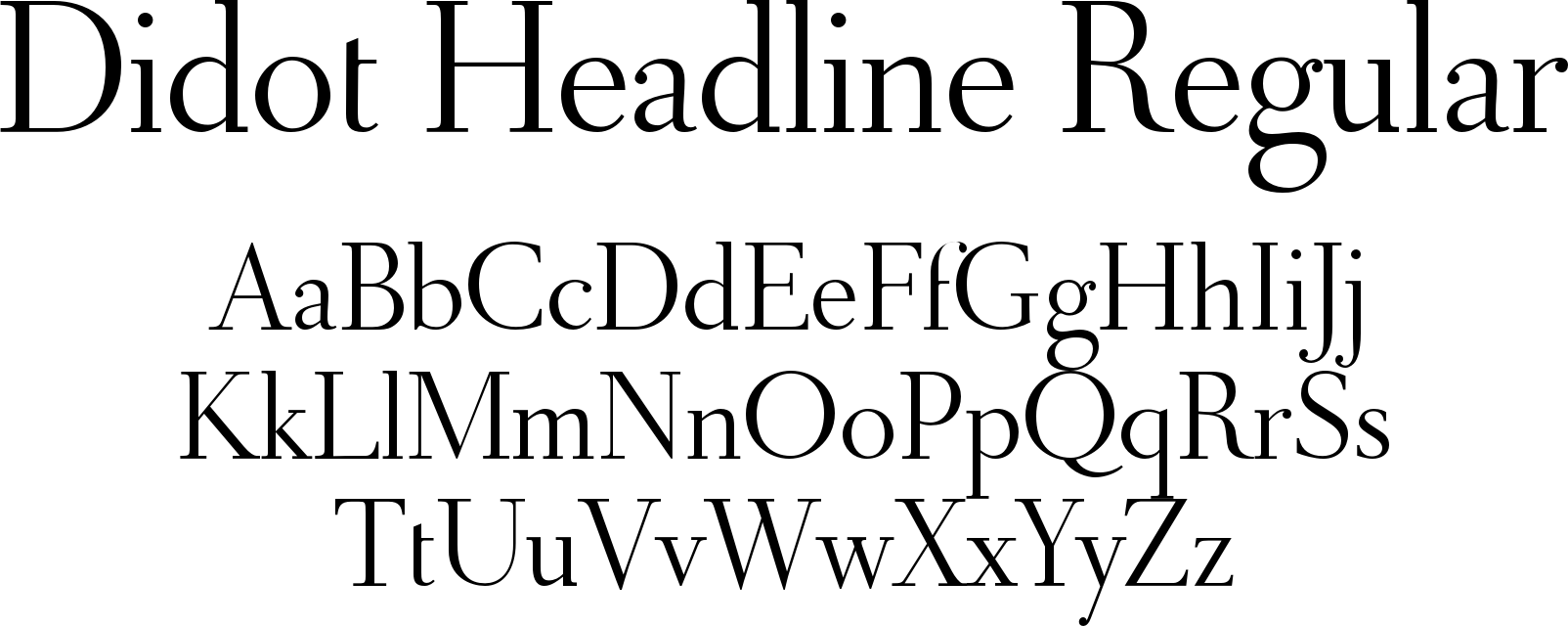 Didot Headline Regular