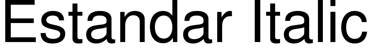 Estandar Italic