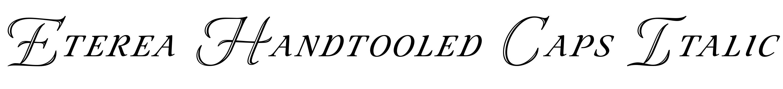 Eterea Handtooled Caps Italic