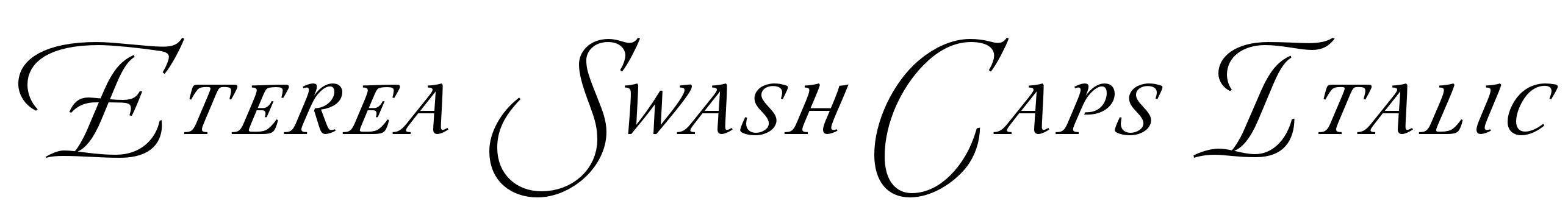 Eterea Swash Caps Italic