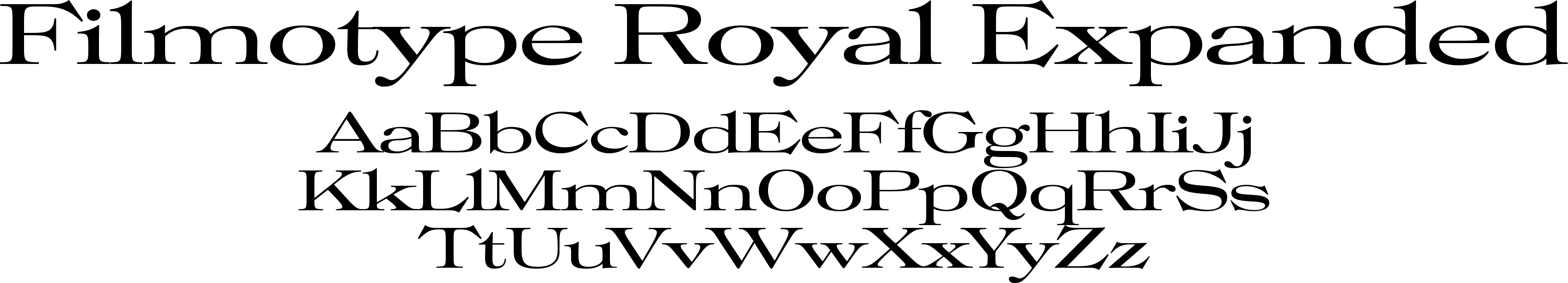 Filmotype Royal Expanded