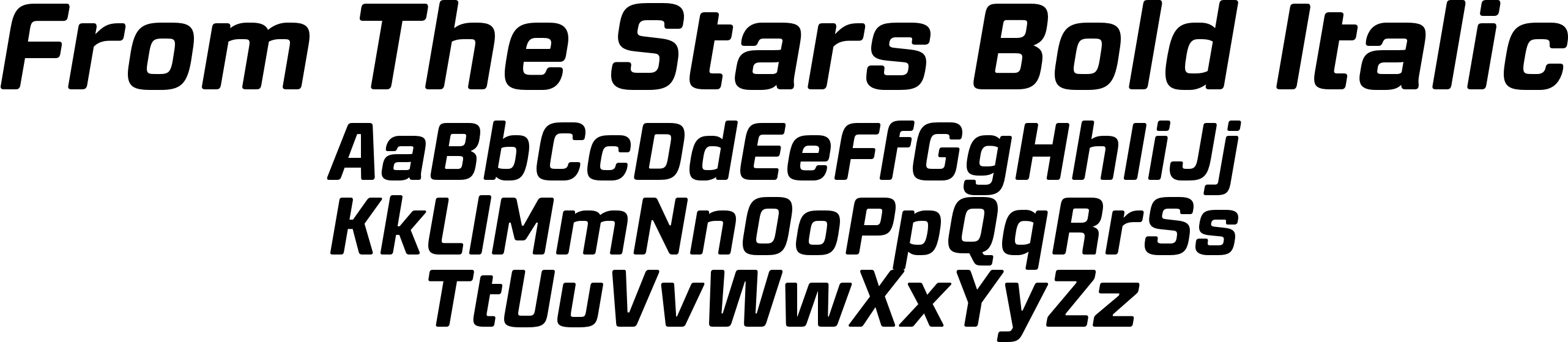 From The Stars Bold Italic