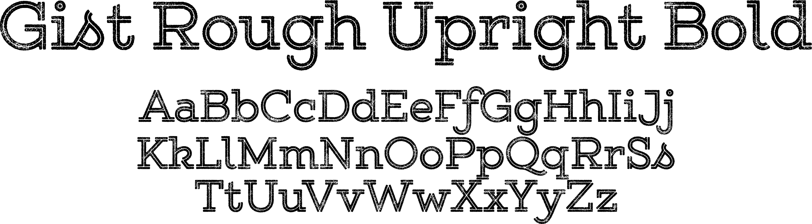 Gist Rough Upright Bold