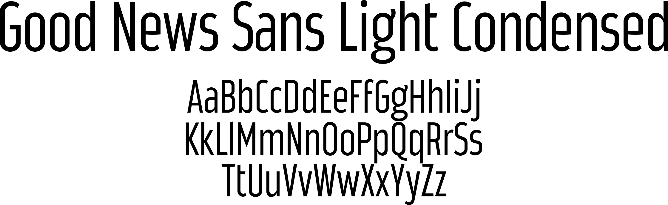 Good News Sans Light Condensed