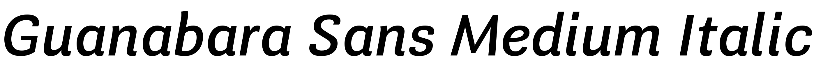 Guanabara Sans Medium Italic