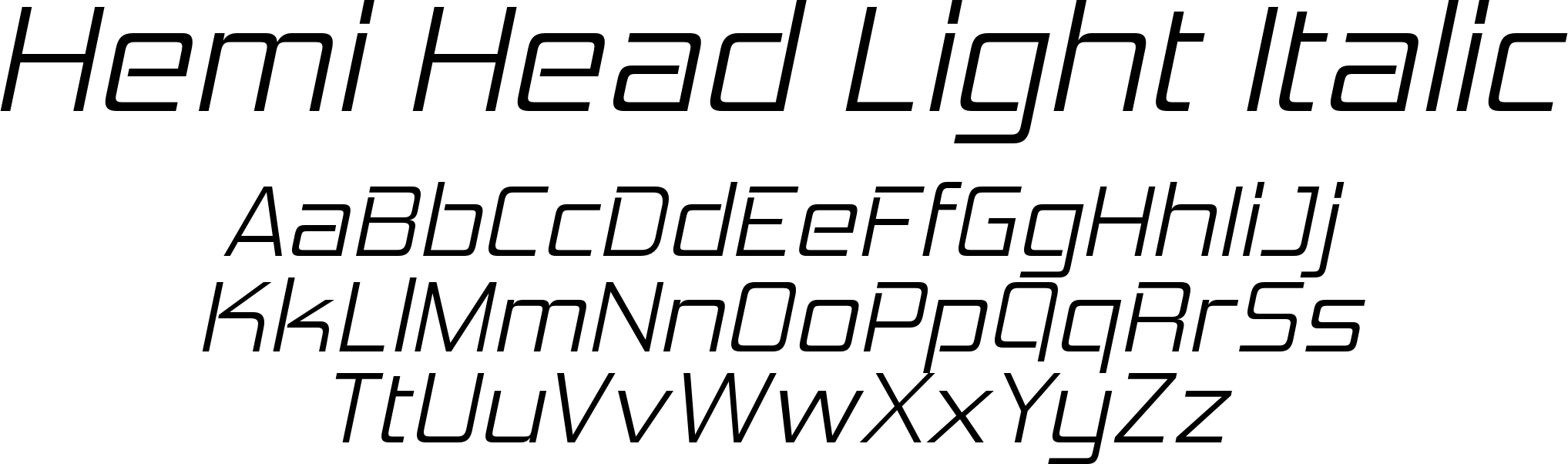 Hemi Head Light Italic