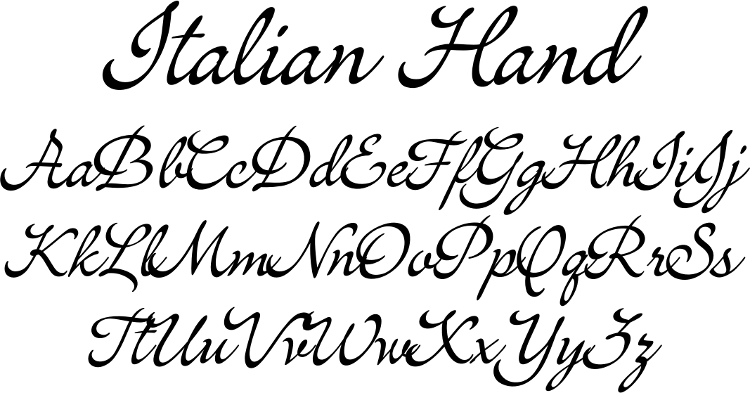 About: Inspired by a broad-edge calligraphy pen, Italian Hand was ...