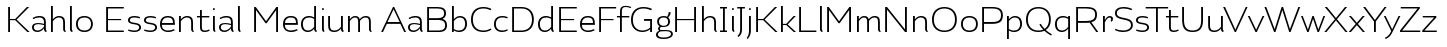Kahlo Essential Medium