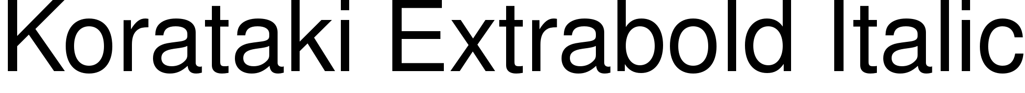 Korataki Extrabold Italic