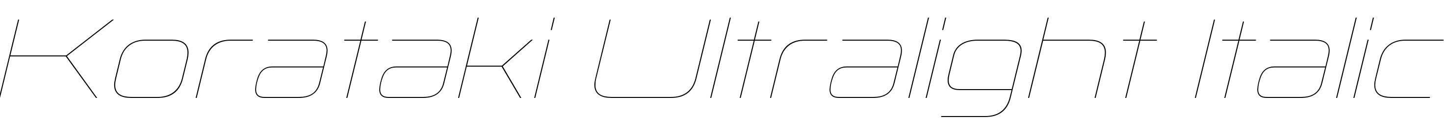 Korataki Ultralight Italic