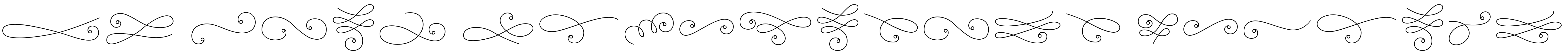 La Chic Flourishes Outline