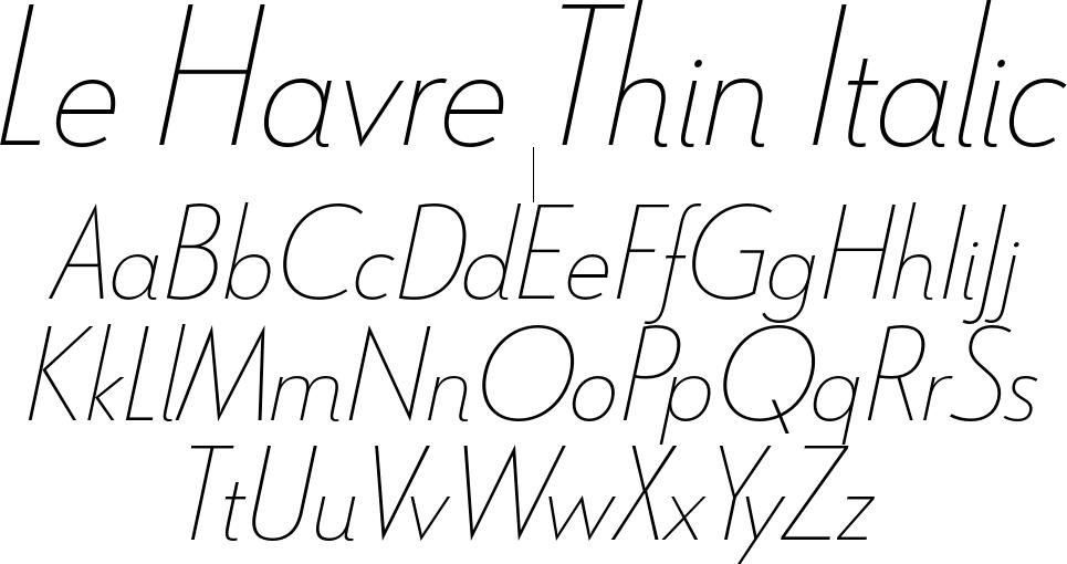 Le Havre Thin Italic