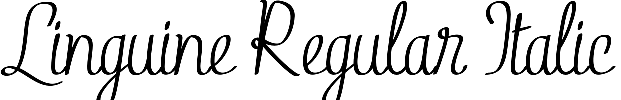 Linguine Regular Italic