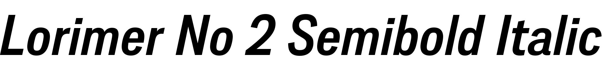 Lorimer No 2 Semibold Italic