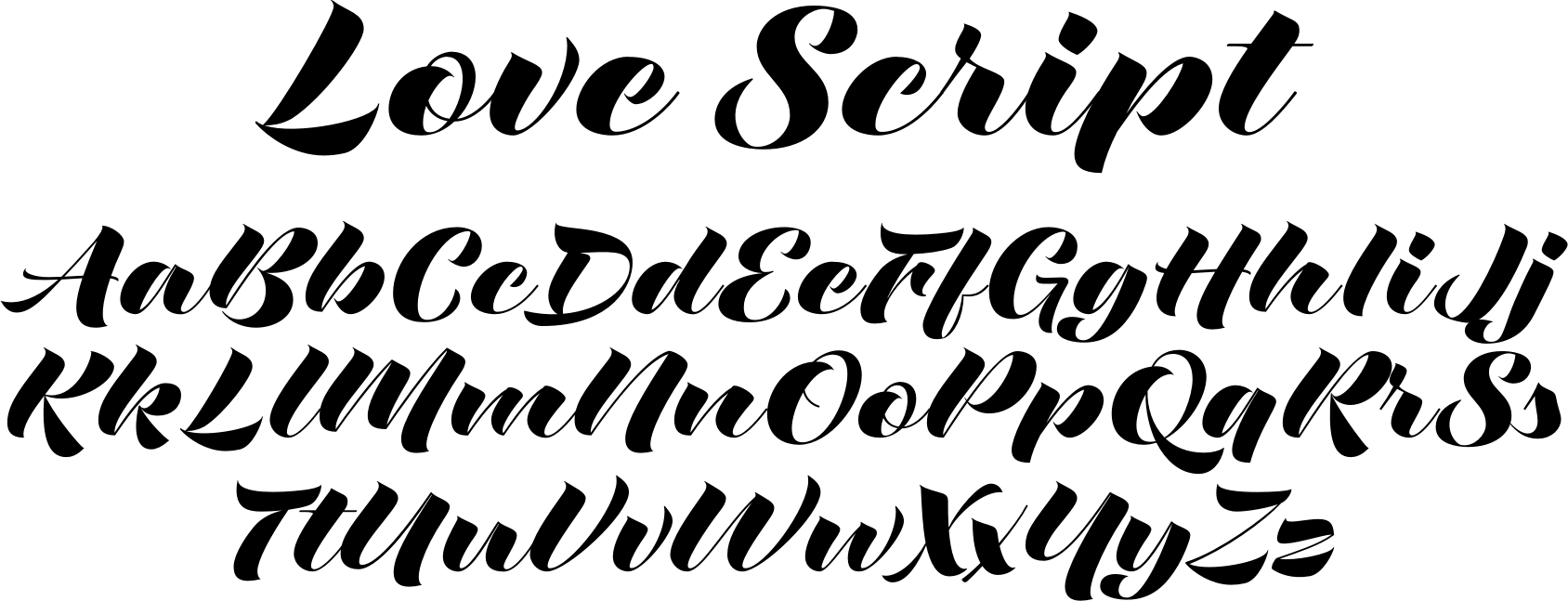 Love Script Font by Positype : Font Bros  Love Calligraphy Font