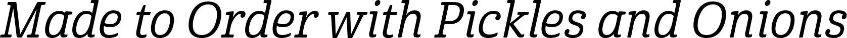 Cabrito Condensed Medium Italic