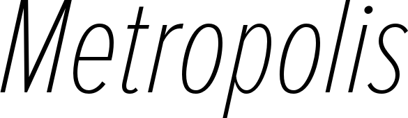 Proxima Nova Extra Condensed Thin Italic Font by Mark