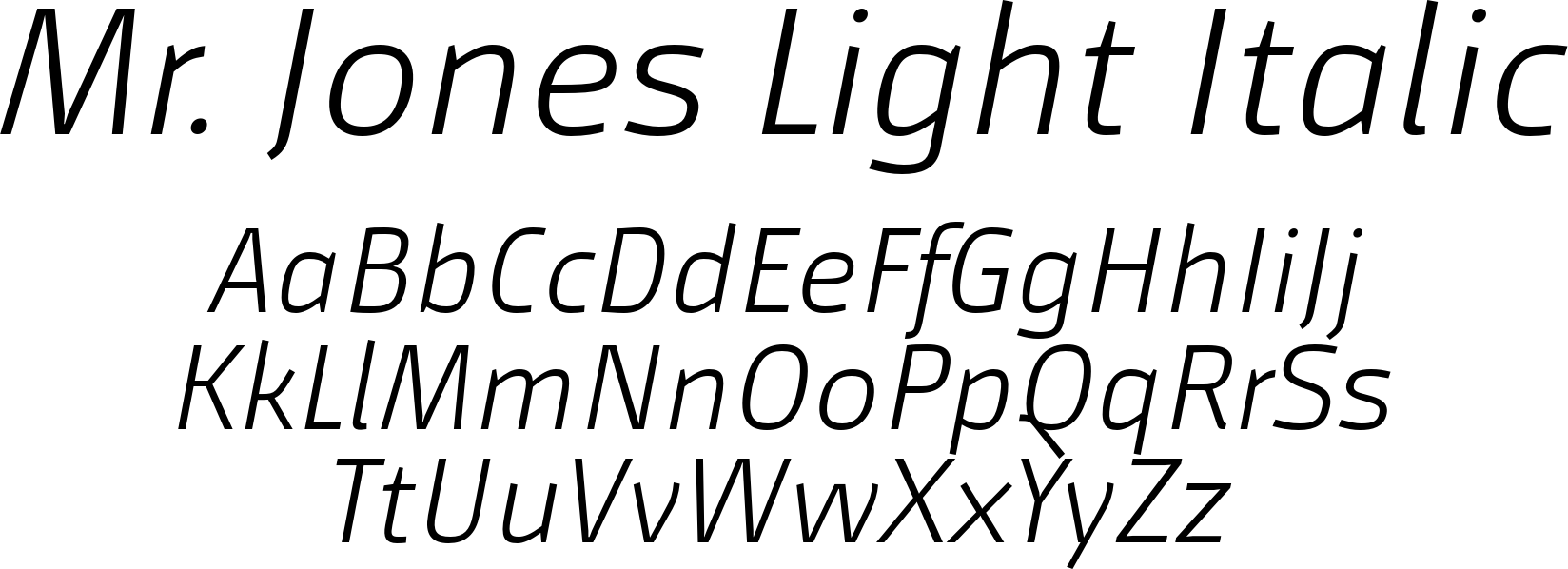 Mr. Jones Light Italic