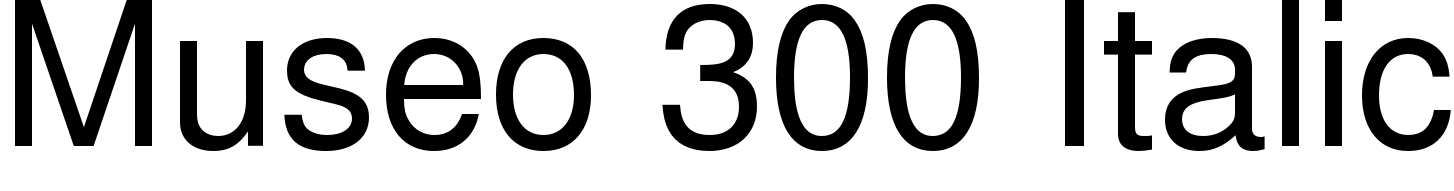 Museo 300 Italic
