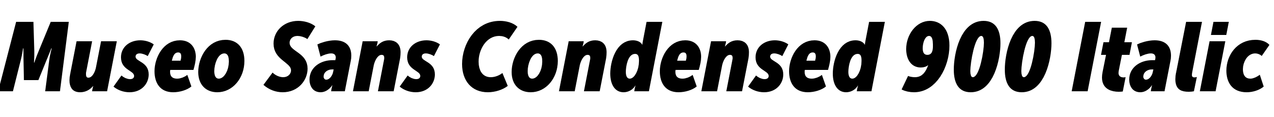 Museo Sans Condensed 900 Italic