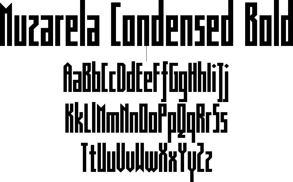 Muzarela Condensed Bold