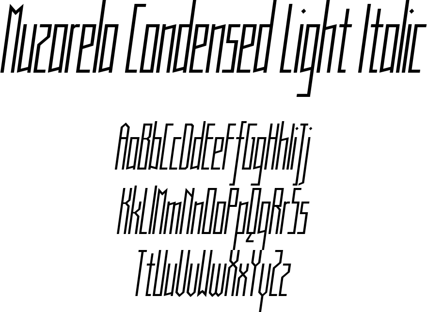 Muzarela Condensed Light Italic