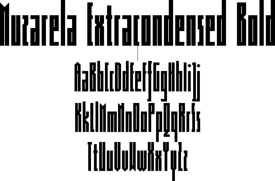 Muzarela Extracondensed Bold