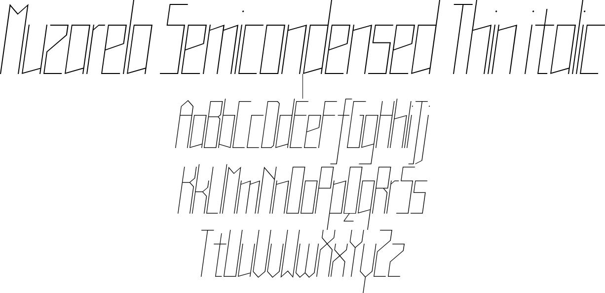 Muzarela Semicondensed Thin italic